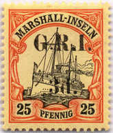 1914, 3 D. On 25 Pf., Carmine And Black/yellow, MNH, Setting 6/pos. 1, Exceedingly Fresh And Magnificently Centred, Sign - Zonder Classificatie