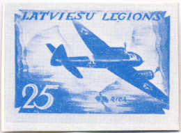 1944/45, 0,25 M., Blue, SS - Division Proof, Extremely Rare, NG, VF!. Estimate 4.000€. - Zonder Classificatie