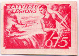 1944/45, 0,75 M., Red, SS - Division Proof, Extremely Rare, NG, VF!. Estimate 3.000€. - Zonder Classificatie
