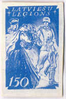 1944/45, 1,50 M., Blue, SS - Division Proof, Extremely Rare, NG, VF!. Estimate 2.000€. - Zonder Classificatie