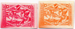 1944/45, 0,75 M., Orange, Red, (2), SS - Division Proofs, Extremely Rare, NG, VF!. Estimate 900€. - Zonder Classificatie