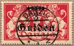 1923, 5 G Auf 1 Mio. M, Lilarot, Auf Briefstück, Luxusentwertung DANZIG, XF!. Estimate 700€. - Zonder Classificatie