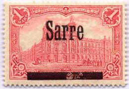1920, 1 M., Saargebiet, Große Druckzufälligkeit Im Balken, Type II, ** Postfrisch, F - VF!. Estimate 300€. - Zonder Classificatie