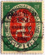 1920, 25 Pf., Polish Local Issue On German Stamp, Overprint Inverted PUCK, Rare, VF. Estimate 1.000€. - Polen