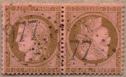 1872, 10 C., Brown/rose, Used 977, Tete-beche Pair, Well Centred And Fresh, Attractive, VF!. Estimate 3.000€. - France