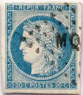 1871, 20 C., Blue, Used In Martinique (cancel MQE), VF!. Estimate 300€. - Zonder Classificatie