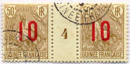 1912, 10 On 50 C., Pale Brown/pale Green, (2), With Center Margin Piece, VF!. Estimate 120€. - Frankrijk (oude Kolonies En Protectoraten)