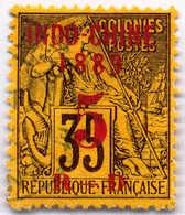 1889, 5 On 35 C., Black/orange, Used, VF!. Estimate 140€. - Frankrijk (oude Kolonies En Protectoraten)