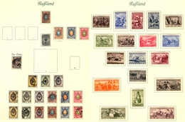 1857-1934, Collection With Albumpages, Comprising # 1, Polish # 1, Levant, China And Wrangle Army, Some Better Classic U - Russia & USSR
