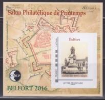 = Bloc CNEP N°71 Salon Philatélique De Printemps Belfort 2016 Neuf Avec TVP LP Adhésif La Statue Des Trois Sièges - CNEP