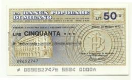 1977 - Italia - Banca Popolare Di Milano - Autostrade - Concessioni E Costruzioni Autostrade S.p.A. - [10] Assegni E Miniassegni