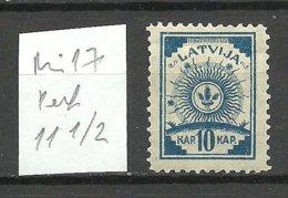 LATVIA Lettland 1919 Michel 17 Gezähnt 11 1/2 * - Letonia