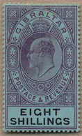 1903, 8 S., Dull Purple And Black/blue, MH, Very Well Centred And Fresh Colour, XF!. Estimate 250€. - Gibilterra
