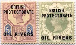 1892, Oil Rivers, 5 D., 1 Sh., MH, VF - XF!. Estimate 110€. - Oficinas En  Marruecos / Tanger : (...-1958