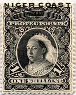 "1894, 1 Sh., Black, ""NIGER COAST"" Overprint, Perf. 15, MH, XF!. Estimate 200€. - Oficinas En  Marruecos / Tanger : (...-1958"