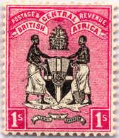 1895, 1 Sh., Black Rose, MH, VF!. Estimate 130€. - Oficinas En  Marruecos / Tanger : (...-1958