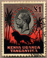 1935-7, Kenya, £ 1, Black And Red, Used, Perfectly Centred And Very Fresh, XF!. Estimate 500€. - Unclassified