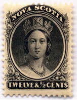 1860/63, 12 1/2 C., Black, MNH, F - VF!. Estimate 100€. - Canada