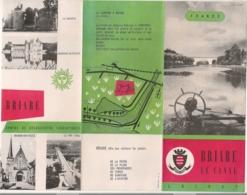 1954 DEPLIANT TOURISTIQUE BRIARE / PROGRAMME DES FETES  / LISTES DES COMMERCANTS E31 - Dépliants Turistici