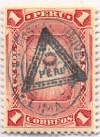 1883, 1 S., Rose, Overprint Triangle & Union P./Lima, MH,XF!. Estimate 400€. - Peru