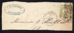 ALLEMAGNE ,  BELLE  OBLITERATION  SUR  FRAGMENT  DU  22  MARS  1872 , A  VOIR . - Non Classés