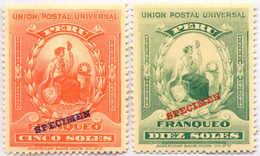 1899, 5 S., 10 S., Full Set Of SPECIMEN Overprints, Rare, MNH,SUP - XF!. Estimate 1.600€. - Peru