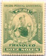 1899, 10 S., Blue Green, MH,VF!. Estimate 1.000€. - Peru