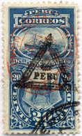 1883, 20 C., Blue, Overprint Red & Black, Triangle Double Overprint, VF!. Estimate 3.000€. - Peru