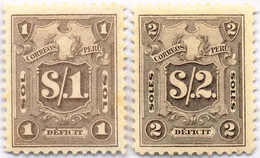 1921, 1 S., 2 S., Grey Violet, Black Violet, (2), Perforation Proofs From The ABNC, NG,VF!. Estimate 800€. - Peru