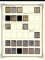 1873, Collection Of 40 Stamps (1 Pair) On Two Album Pages, Colour Variations, Genuine And False Postmarks, 12 Possible F - Peru
