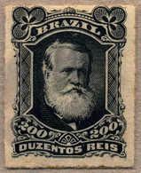 1877/78, 200 R., Black, MH, Rouletted, Very Rich Colour, F!. Estimate 300€. - Brasilien