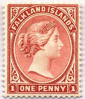 1889, 1 D., Red Brown, MH, VF!. Estimate 400€. - Falkland Islands