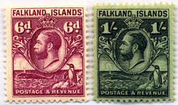 1929, 4 D. - 1 Sh., All Line Perf., MNH, F - VF!. Estimate 120€. - Falklandinseln