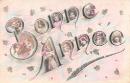 Carte CPA Fantaisie - Bonne Année : Portraits De Fillettes Petites Filles - Art Nouveau - Abbildungen