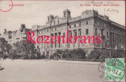 Hongarije Hongary Ungarn Hongrie Magyarorszag Budapest Az Osztr. Magyar Bank Palotaja 1913 Rare Old Postcard - Hongarije