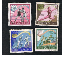 URSS - SG 2470.2474  - 1960  OLYMPIC GAMES   -  USED° - Usati