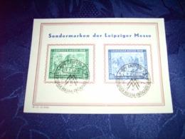 Sowjetische Zone(SBZ) Sonderkarte Zur Leipziger Messe Vom 02.03.1948 Bis 05.03.1948 / Siehe Fotos - Soviet Zone