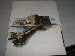 MENU' T/N EUGENIO COSTA 1977 RAFFIGURANTE NAPOLI CASTEL DELL'OVO - Menu