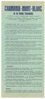 1955 / CHAMONIX MONT BLANC ET SA VALLEE ENSOLEILLEE / 2 DOCUMENTS   E31 - Dépliants Touristiques