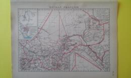 CARTE Du SOUDAN FRANÇAIS ( MALI) Plan De Bamako 1930 - Carte Geographique