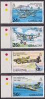 Aviation - GIBRALTAR - Avions De La Royal Air Force - N° 827 à 830 ** - 1998 - Gibilterra