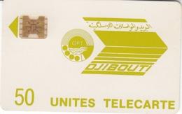 DJIBOUTI-N.3-50u-YELLOW GREEN LOGO Cn.11714. - Dschibuti