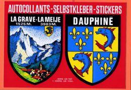 X05069 Peu Commun LA GRAVE MEIJE DAUPHINE 05 Hautes-Alpes Héraldique Autocollants Selbstkleber-Stickers CRANVES-SALES - Otros Municipios