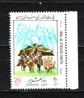 Iran - 1989. Giornata Del Nomade. Beduini A Cavallo. Nomad Day,Bedouins On Horseback. MNH - Costumi