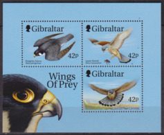 Faune, Oiseaux De Proie - GIBRALTAR - Faucons - BF N° 37 ** - 1999 - Gibilterra