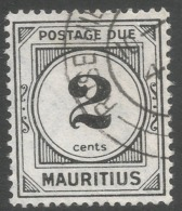 Mauritius. 1933-54 Postage Due. 2c Used. Mult Script CA W/M SG D1 - Mauricio (...-1967)