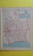 CARTE De COTE D'IVOIRE Plan De Bingerville Et Grand Bassan 1930 - Carte Geographique