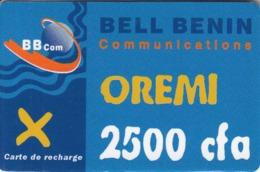 Bell Benin Oremi 2500 Cfa BBCom Carte De Recharge - Benin