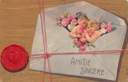 Carte CPA Fantaisie - Illustration - Enfants Ange Anges Dans Une Enveloppe - Surréalisme - 1907 - En L'état - Anges