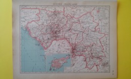 CARTE De La GUINÉE FRANÇAISE Plan De Conakry 1930 - Carte Geographique